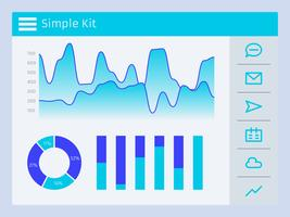 Awesome Charts Ui Kit Vectoren