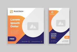 moderne post en verhaal ontwerpsjabloon vector