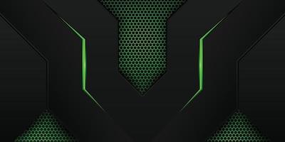 moderne groene gamingachtergrond met zeshoekig patroon vector