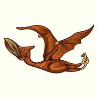 Realistische dinosaurussen pterodactyl vector