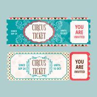 Aquarel eerlijke Ticket sjabloon vector