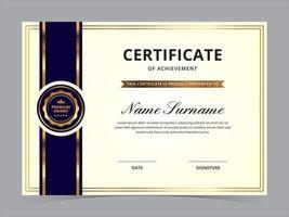 certificaat sjabloonontwerp vector