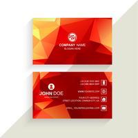 Prachtige geometrische kleurrijke visitekaartje sjabloon vector