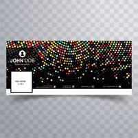 Mooi kleurrijk gestippeld facebook tijdlijnsjabloonontwerp vector