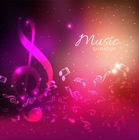 Abstracte kleurrijke achtergronden met glanzende muziek notities elementen de vector