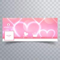 Abstracte Valentijnsdag facebook cover ontwerp illustratie