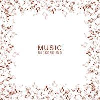 Abstracte achtergrond met muziek notities. vector