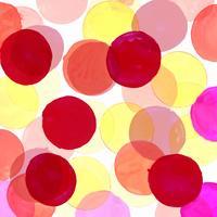 moderne kleurrijke aquarel cirkels achtergrond