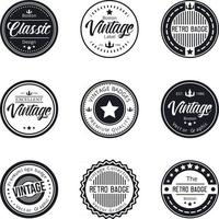 vintage logo badge set collectie vector
