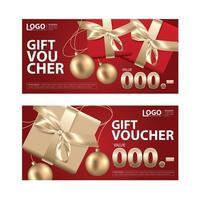 cadeaubon coupon sjabloon set vector