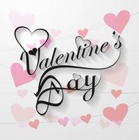 Valentijnsdag kalligrafie tekst achtergrond vector