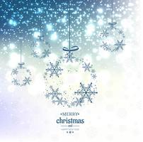 Elegant Kerstmisblauw schittert achtergrond met sneeuwvlokken