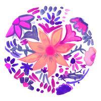 Abstracte decoratieve waterverf bloemenachtergrond vector