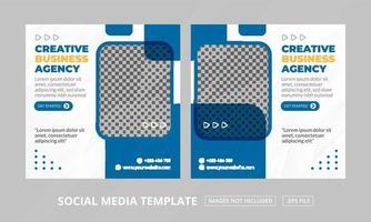 postsjabloon voor sociale media vector