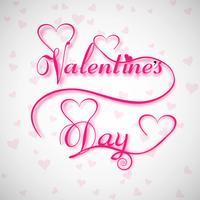 Mooi Valentijnsdag kalligrafie tekstontwerp vector