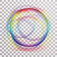 Moderne regenboog cirkel achtergrond vector
