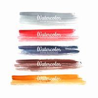 Set van handgeschilderde kleurrijke penseelstreken ontwerp vector