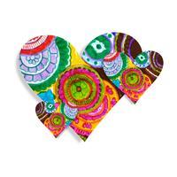 Van de dag kleurrijke harten van moderne valentijnskaart illustratie als achtergrond vector