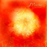 Grunge muzieknoten kleurrijke achtergrond vector