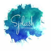 Splash kleurrijke aquarel achtergrond vector