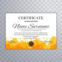 Abstracte certificaatsjabloon vectorillustratie