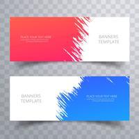 Abstract kleurrijk banners geplaatst sjabloonontwerp vector