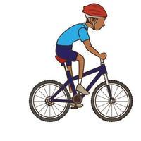 man rijden fiets pictogram vector