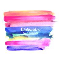 Abstracte kleurrijke aquarel beroerte achtergrond