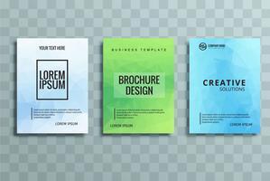 moderne kleurrijke zakelijke brochure set