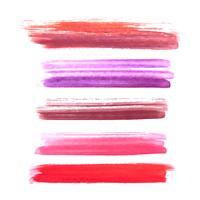 Set van kleurrijke aquarel penseelstreken ontwerp