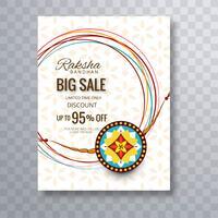 Rakhi Verkoop Poster Sjabloon Achtergrond Voor Festival Van Raksha Verbod vector