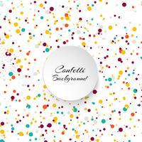 Abstracte achtergrond met veel vallende kleurrijke confetti ronde ve vector