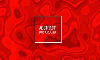 Mooie rode papercut achtergrondillustratievector