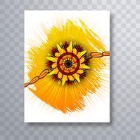 Raksha bandhan kleurrijke kaart brochure vector sjabloon