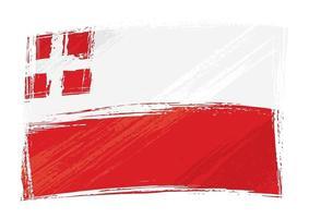 grunge geschilderd utrecht regio van nederland vlag vector