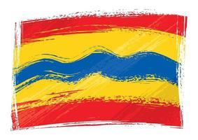 grunge geschilderd overijssel regio van nederland vlag vector