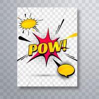 Abstract kleurrijk komisch het malplaatjeontwerp van de pop-artbrochure