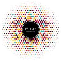 Elegante kleurrijke punten halftone achtergrondillustratie vector