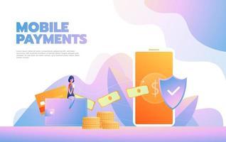 bestemmingspagina sjabloon van online winkelen. modern plat ontwerpconcept webpaginaontwerp voor website en mobiele website. vector illustratie