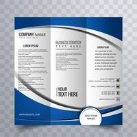 Moderne driebladige brochure vector