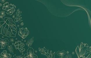 tropische bloemenachtergrond vector
