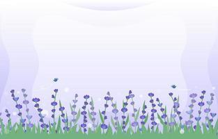 lavendel en gras achtergrond vector