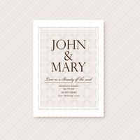Abstracte bruiloft uitnodiging kaartsjabloon ontwerp