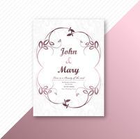 Decoratief frame bruiloft kaart sjabloonontwerp