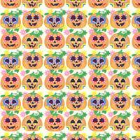 Vector kleurrijke dag van de dode pompoenen patroon