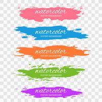 Het abstracte kleurrijke vastgestelde ontwerp van de waterverfslag vector