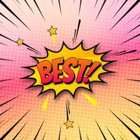 Beste zeepbel praten in de komische kleurrijke achtergrond vect pop-art-stijl vector