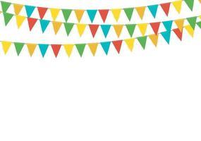 driehoek partij vlag garland geïsoleerd op een witte achtergrond vector