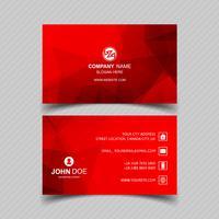 Modern rood visitekaartje sjabloonontwerp