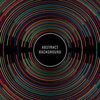 Abstracte kleurrijke cirkellijnen achtergrondillustratievector